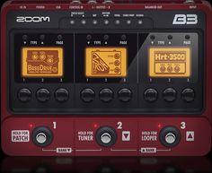 Zoom B3 Bass Effects & Amp Simulator Pedal