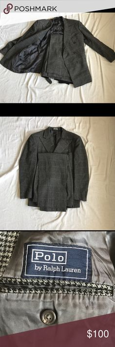 Polo by Ralph Lauren Two Piece Suit black, purple and grey two piece Polo by Ralph Lauren Suit. Comment for measurement, in good condition sold as is. Polo by Ralph Lauren Suits & Blazers Suits
