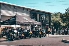 Proof that motorcycling, and British biking, remains popular, as the Triumph North London launch event attracts crowds to the new dealership North London, East London, Custom Tanks, London Brands, Free Beer, Surrey, Crowd, Attraction, Product Launch
