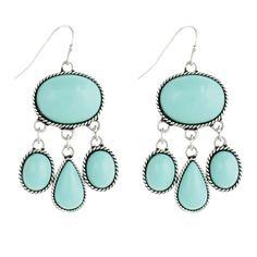 Veleta Earrings in Turquoise.