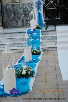 στολισμός γάμου κοιμηση θεοτοκου βουλα Event Decor, Table Decorations, Jazz, Brunch, Handmade, Ocean, Events, Blue, Hand Made