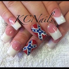 Rebel flag nail art love it 3 polished toes pinterest going to be my homecoming nails prinsesfo Gallery