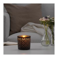 IKEA STABBIG decoration for candle in glass The decoration can also be used with large tealights.