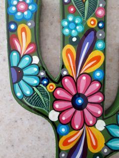 Mexican Crafts, Mexican Art, Mexican Fabric, Mexican Tiles, Cactus Painting, Painting On Wood, Cactus Art, Mexican Wall Decor, Cactus Doodle