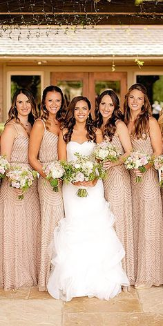 18 Full On Glitz Sequined & Metallic Bridesmaid Dresses 4