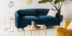 These 12 Jewel-Toned Sofas Will Make Your Living Room Look Expensive Living Room Sofa, Interior Design Living Room, Living Room Designs, Living Room Decor, Living Rooms, Living Spaces, Apartment Sofa, Apartment Interior Design, Apartment Therapy