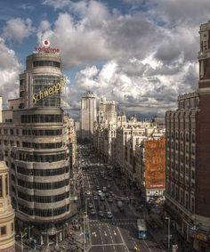 Capitol Building in the Gran Via, Madrid, Spain. Places To Travel, Travel Destinations, Places To Visit, Spain And Portugal, Beautiful Places In The World, Spain Travel, Dream Vacations, Wonders Of The World, Cool Pictures