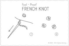 French knot embroidery instructions.