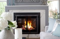 Love It Or List It Vancouver: Kevin & Sabrina's new living room fireplace … so warm and cozy!