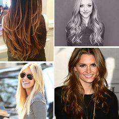 cabelos longos repicados costas - Pesquisa Google