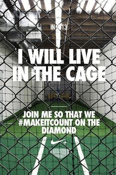 I will live in the cage.... Join me so that we #makeitcount on the diamond.