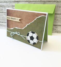Glückwunschkarten - Fußball Kindergeburtstagskarte  - ein Designerstück von POMMPLA bei DaWanda