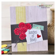 January Unity Stamp Company sentiment kit / inspiration colors / be inspired challenge card. Unity Stamps, Have A Beautiful Day, Have Some Fun, Happy Birthday, Paper Crafts, Gift Wrapping, Kit, Love, Cards