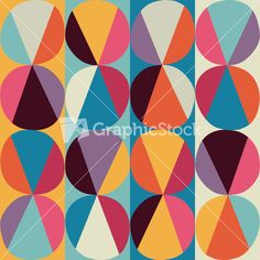 Download Vector Geometric Pattern Of Circles And Triangles. Colored Circles Seamless Pattern. Vintage Abstract Seamless Pattern. Bright Geometry Template. Round Shapes. Retro Hand Drawn Circles Ornament Stock Image and other stock images, photos, icons, vectors, backgrounds, textures and more.