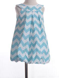 Aqua Chevron Dress: Threads