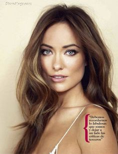 olivia wilde hair & makeup. Love this hair color!