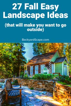 Want to spruce up your backyard for fall? Here are great fall landscape ideas for the fall feel in your favorite outdoor space. Backyard Projects, Fun Projects, Outdoor Security Lights, Best Outdoor Lighting, Fall Landscape, Water Pond, Solar Powered Lights, Backyard Landscaping, Landscaping Ideas
