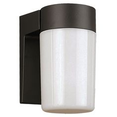 The Standard Black Metro 8-Inch Porch Light with Opal Globe Glass