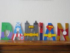 Best Seller Superhero Letter Art by TheLetterBug on Etsy, $12.00