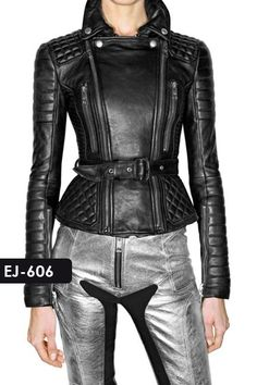 Exclusive Genuine Soft Lambskin Leather Quilted Jacket #Rage Leather