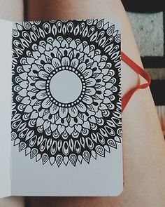 Mandala drawn in my little red moleskine with micron pens, this one makes me so happy. :)