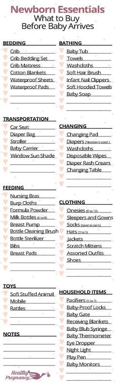 A complete shopping checklist for newborns. Everything you will want to stock up on before baby arrives.  Pregnancy | Pregnant | Shopping | Baby Items | Newborn Essentials