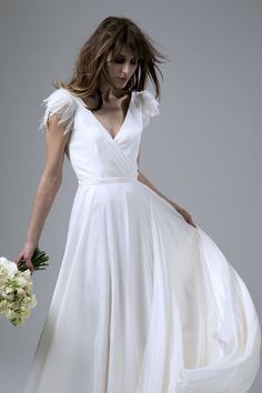 Winter wedding dress by Halfpenny London