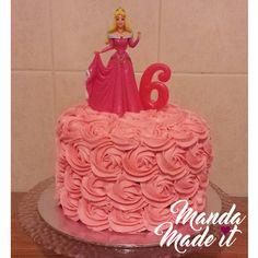 Sleeping Beauty Princess Aurora Cake with Rosette Icing