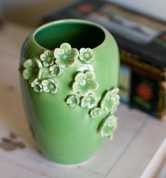 bud vase via red hot pottery on etsy $48 |Pinned from PinTo for iPad|