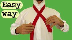 Tie A Tie Easy, Simple Tie Knot, Double Windsor, Windsor Knot, School Ties, Rope Knots, Helpful Hints, Life Hacks, Hair Ideas