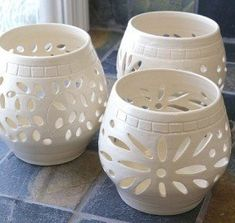 Brilliant White Wedding Luminary Candle Holder Votive Ceramic on Home Design Ceramic Candle Holders For Wedding Or Party Decoration Ceramic Clay, Ceramic Pottery, Pottery Art, Stoneware Clay, Ceramic Lantern, Ceramic Candle Holders, Votive Holder, Art Clay, Ceramics Projects