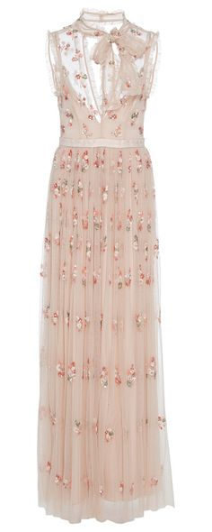 Embellished Tulle Gown by Needle & Thread. Needle & Thread is loved for its fresh take on embellished dresses. Cut from weightless tulle this style is embellish...