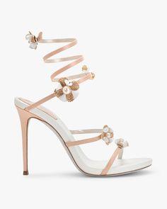 564c74989878 Sandale en cuir et cristaux  find all details on this exclusive product. Buy  it easily at the official online Boutique for René Caovilla