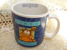 Vintage Garfield Libra Coffee Mug // FunkAndMore by FunkAndMore, $9.00
