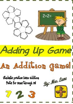 Adding Up Addition Game! (For Elementary)
