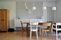 dining table - dining room - white chair