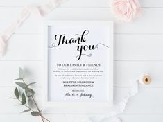 Wedding Donation Sign Thank You Sign Wedding by TheBlondeOrphan