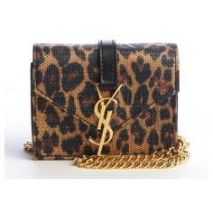 Saint Laurent Leopard print mini 'Candi' crossbody bag (€695) ❤ liked on Polyvore featuring bags, handbags, shoulder bags, leopard print shoulder bag, mini shoulder bag, leather purse, leather crossbody handbags and leather crossbody