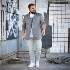 Pin by vialaven on men's outfits large men fashion, chubby men fashion Chubby Men Fashion, Large Men Fashion, Fat Fashion, Mens Fashion Suits, Fashion Fashion, Fashion Outfits, Men's Outfits, Womens Fashion, Casual Plus Size Outfits