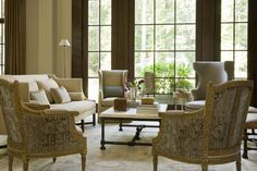 English Country - Harrison Design Dining Bench, Dining Chairs, Harrison Design, Walnut Kitchen, Kitchen Cabinetry, Large Windows, Interior Design, English, Country