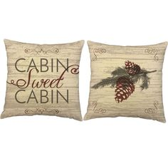 Cabin Sweet Cabin Throw Pillows - Set of 2