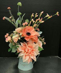 Blush and coral arrangement.