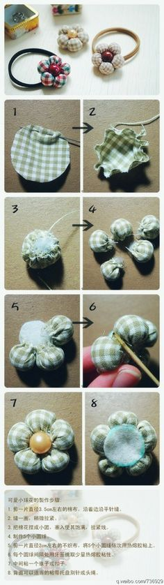 Flower Ball Petals from Fabric Scraps: lots of  Easy Crafts Tutorials on this site