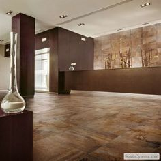 "Vesale Stone 20"" x 20"" - Rust  Entryoption"