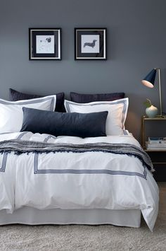 Get that hotel feeling at home with bed sheets Koster. Bedroom Inspo, Home Bedroom, Master Bedroom, Bedroom Decor, Designer Bed Sheets, Decoration Design, My New Room, Room Inspiration, Living Room Designs
