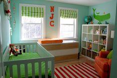 cute little boy's nautical themed nursery