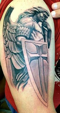 Archangel Michael by Jake Underwood @Newport Tattoo, Costa Mesa, Ca So so AWESOME