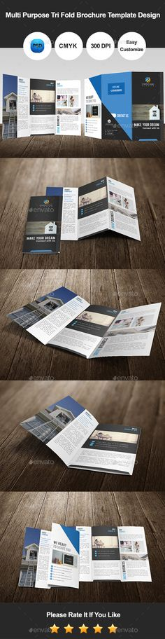 Multi Purpose Tri Fold Brochure Template #brochure Download: http://graphicriver.net/item/multi-purpose-tri-fold-brochure-template-design/11502614?ref=ksioks