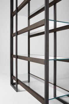 Stainless steel bookcase DIPSY - @gallottiradice
