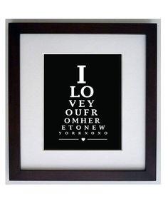 NEW YORK USA Eye Chart  8 x 10 digital print by hunterandsmile, $17.50